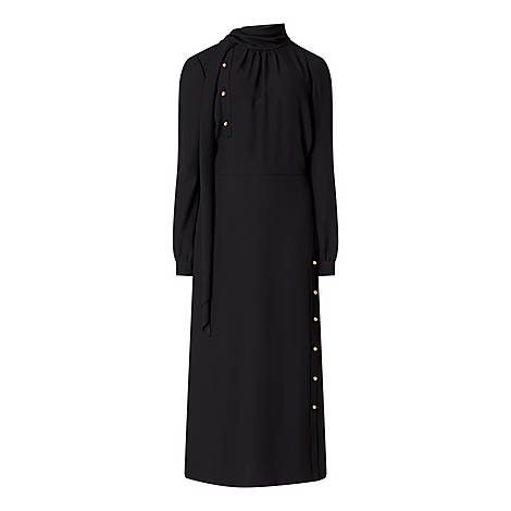 High-Neck Studded Dress, ${color}