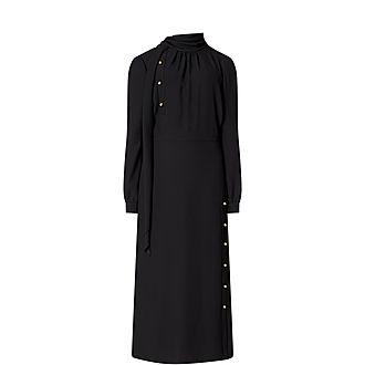 High-Neck Studded Dress
