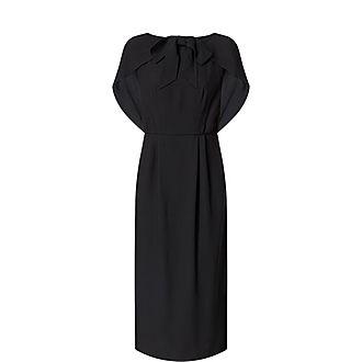 Cape Effect Midi Dress