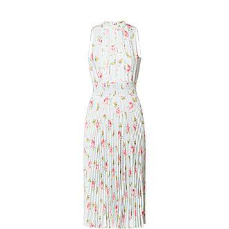 Butterfly Pleated Dress