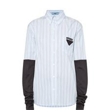 Jersey Sleeve Stripe Shirt