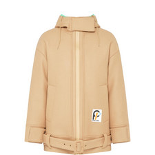 Hooded Zip Double Coat