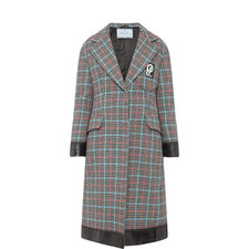 Houndstooth Padded Coat