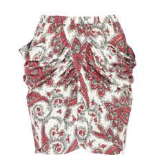 Tilena Paisley Print Skirt