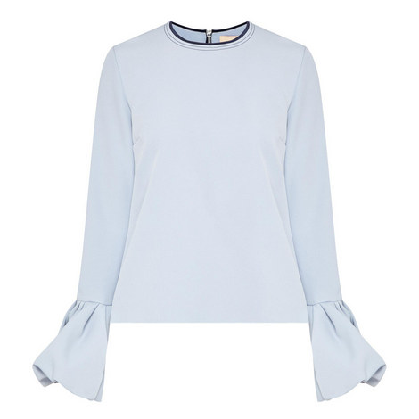 Frilled Sleeve Top, ${color}