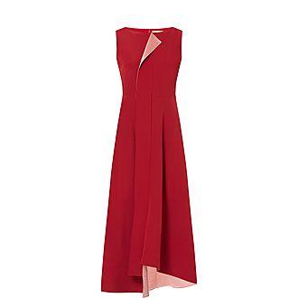 Sleeveless Quilted Belt Dress