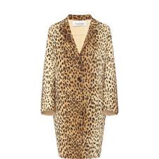 Leopard Wool Coat