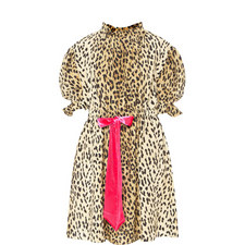 Leopard Print Bow Dress