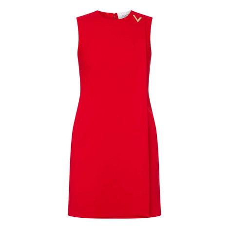 Sleeveless V Dress, ${color}