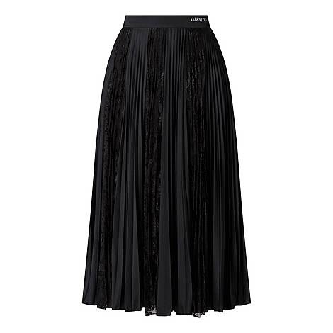 Lace Pleated Skirt, ${color}