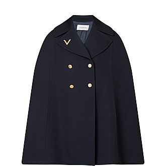 V-Logo Cape Coat