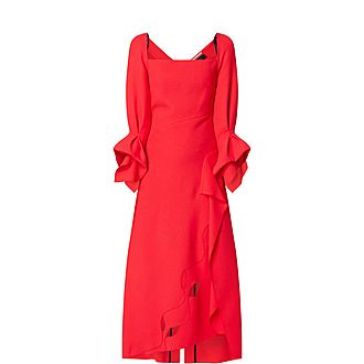 Trinity Asymmetrical Ruffle Dress
