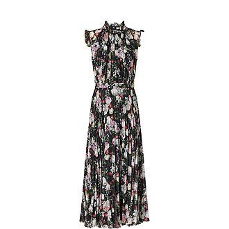 Frill Pleated Dress
