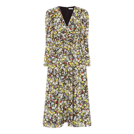 Analee Floral Button Dress, ${color}