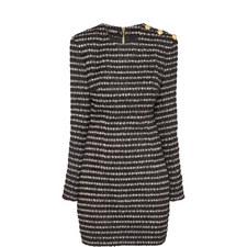 Striped Tweed Mini Dress