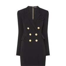 Tailored Double-Breasted Button Mini Dress