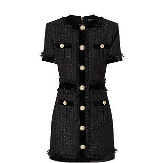 Iridescent Tweed Mini Dress