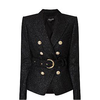 Lurex Belted Jacket