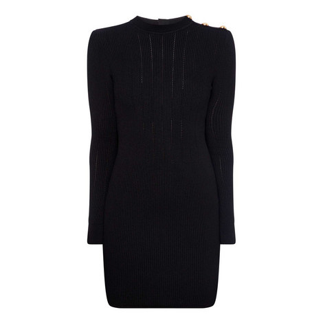 Highneck Mini Dress, ${color}