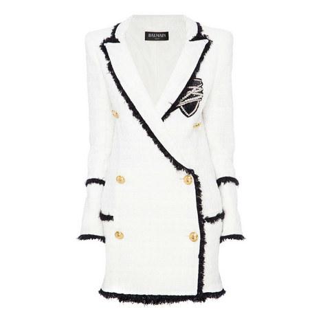 Longline Tweed Jacket, ${color}