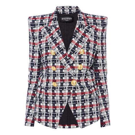 Tweed Six Button Blazer, ${color}
