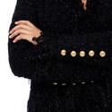 Collarless Fringed Jacket, ${color}