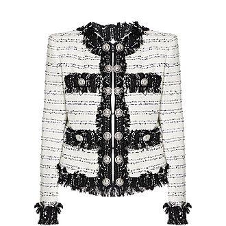 Fringe Tweed Jacket