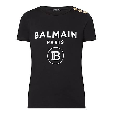 Three Button Logo T Shirt by Balmain