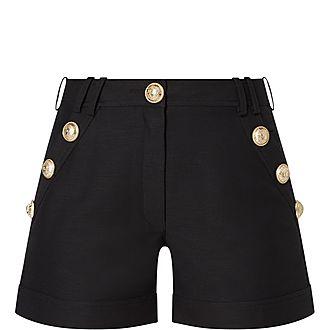 Cotton Button Shorts