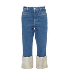 Fisherman Stitch Jeans