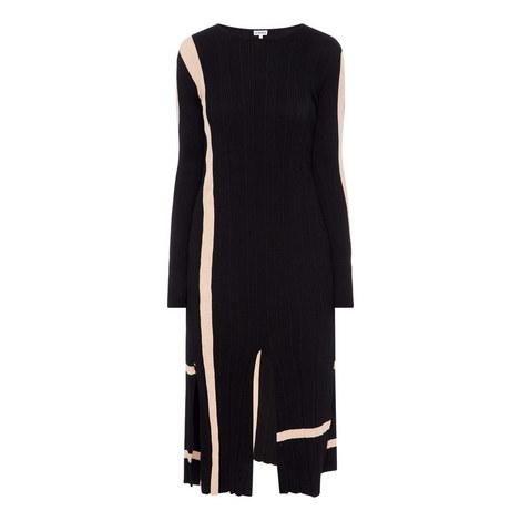Stripe Slit Dress, ${color}