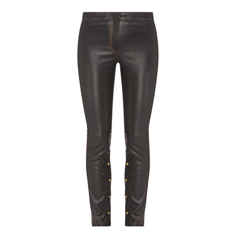 Nappa Stretch Trousers, ${color}