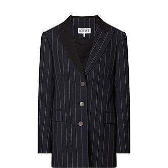 Pinstripe Tuxedo Blazer