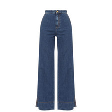 Flare Denim Trousers