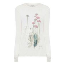 Long Sleeve Botanical Print T-Shirt