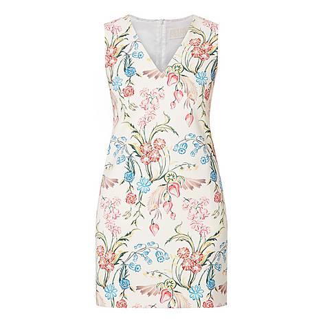 Floral V-Neck Dress, ${color}