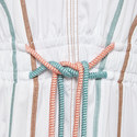 Cotton Gathered Hem Rope Dress, ${color}
