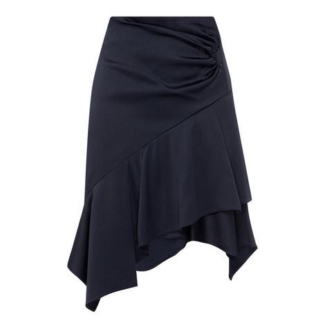 Asymmetric Satin Skirt, ${color}