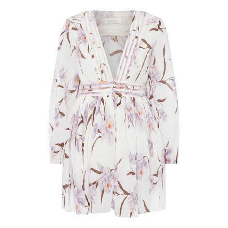 Corsage Plisse Mini Dress, ${color}