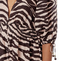 Zebra Print Shirt Dress, ${color}
