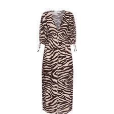 Zebra Print Shirt Dress