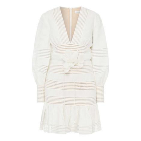 Corsage Linear Mini Dress, ${color}