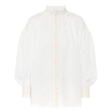 Corsage Long Sleeve Blouse, ${color}