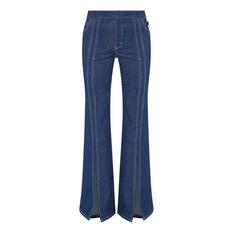 Flared Slit Jeans, ${color}
