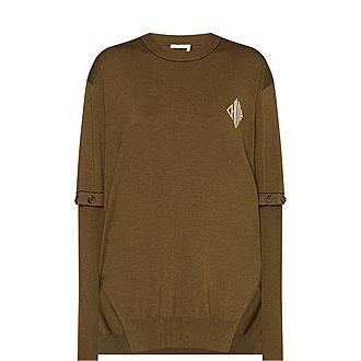 Detachable-Sleeve Sweater