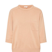 Cashmere Cropped Sleeve Sweater