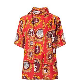Lavallière Printed Shirt