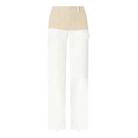Colour Block Wide Trousers, ${color}