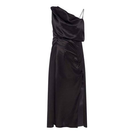 Slit Satin Dress, ${color}