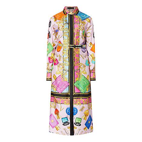 Accessories Print Shirt Dress, ${color}